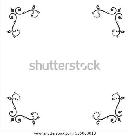 Calligraphy Design Elements Corner Frame Stock Vector (2018 ...