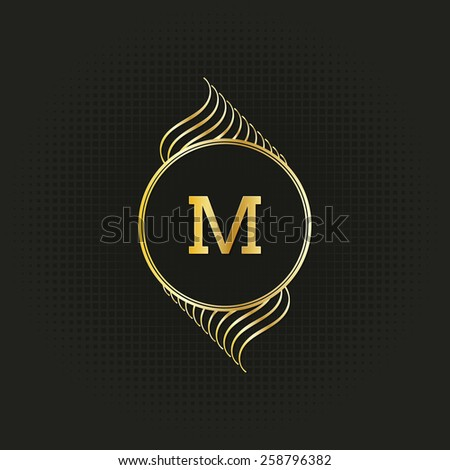 calligraphy monogram, vintage pattern logo, EPS 10 - stock vector