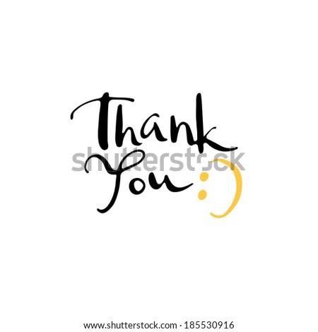 Calligraphy. Thank you.  - stock vector