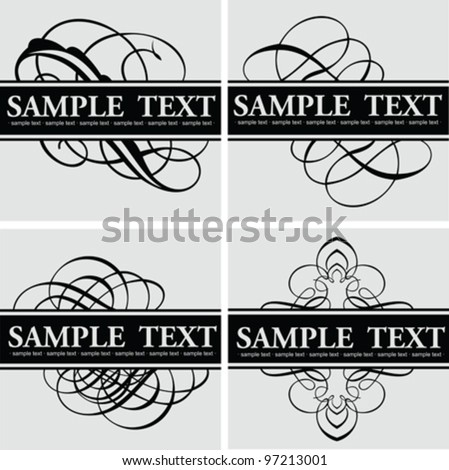 Calligraphy Title Quad - stock vector