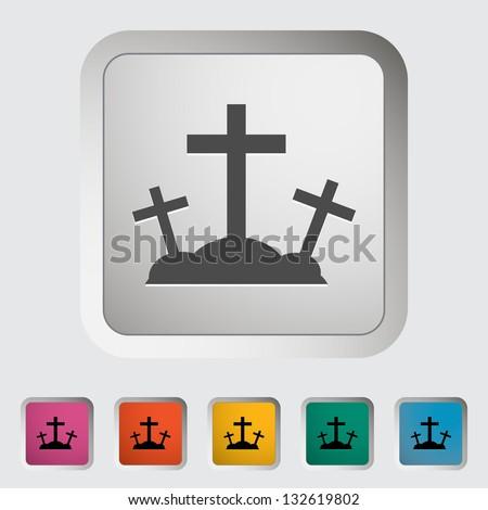 Calvary single icon. Vector illustration. - stock vector