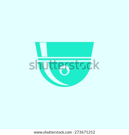 Camcorder icon, vector illustration. Flat design style. - stock vector