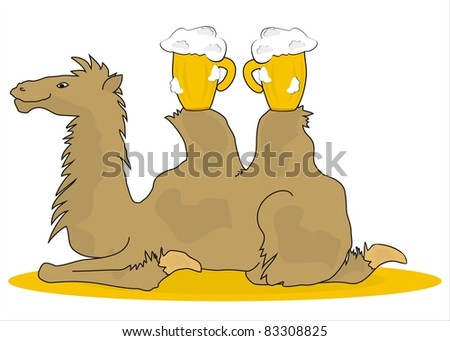 camel - stock vector