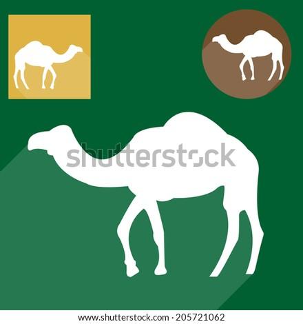 Camel silhouette - stock vector