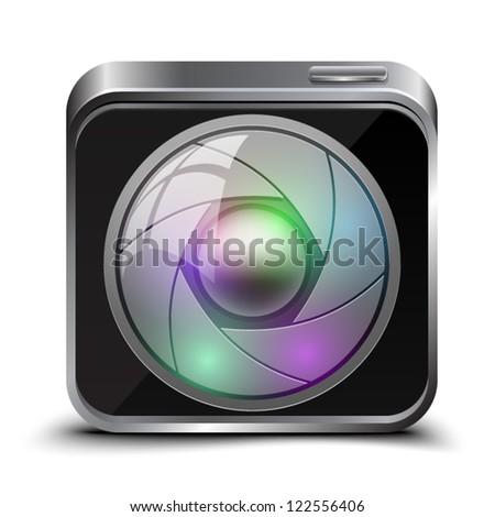 Camera button - stock vector