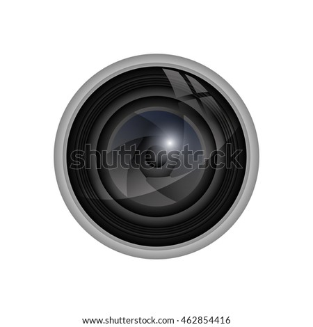 Camera concept represented by shutter icon. Isolated and flat illustration