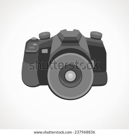 Camera 2D. Vector format. Photography. - stock vector