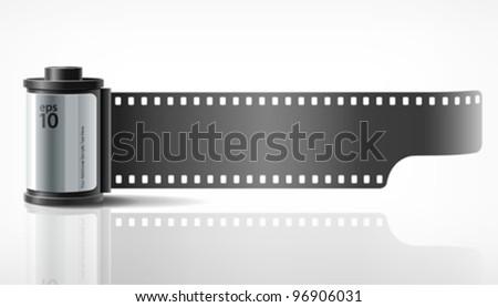 Camera film roll, vector illustration - stock vector