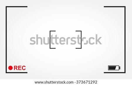 Camera focus frame with rec label. Camera viewfinder background design. Vector illustration. - stock vector