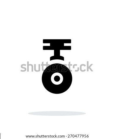 Camera for copter simple icon on white background. Vector illustration. - stock vector