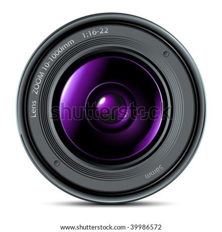 camera glass - stock vector