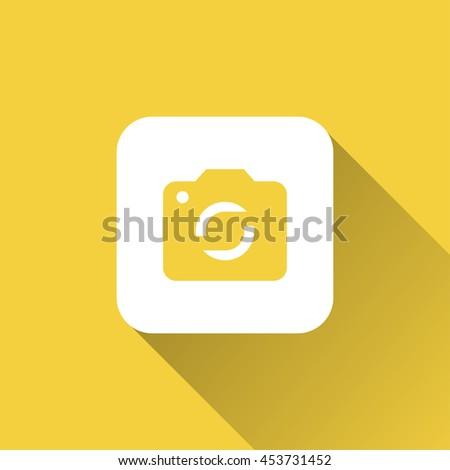 camera icon. flat design - stock vector