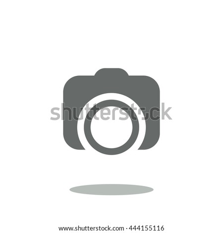 Camera Icon, flat design style