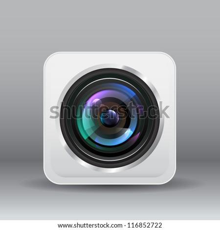 Camera icon lens. Vector - stock vector