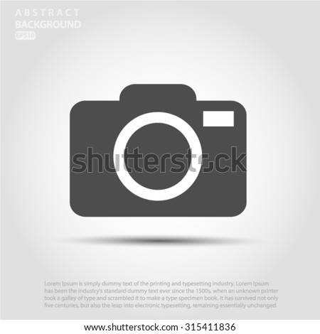 camera icon Vector EPS 10 illustration. - stock vector