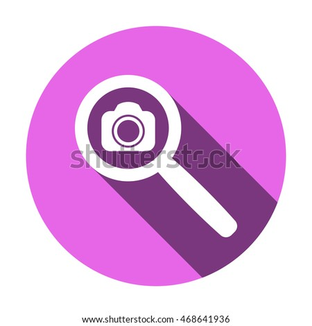 Camera icon,vector. Flat design.