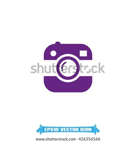Camera icon vector illustration - stock vector