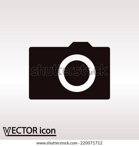 Camera icon; vector illustration. Flat design style