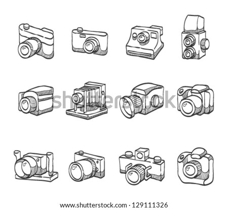 Camera  icons in sketch.