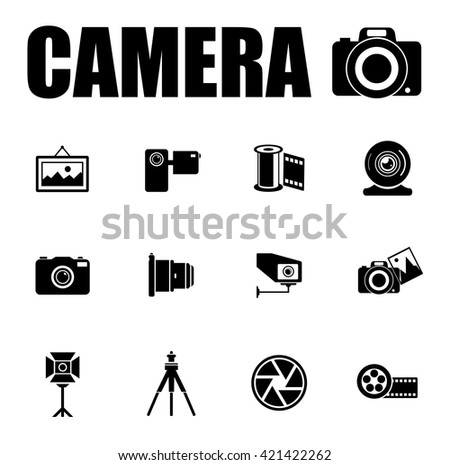 CAMERA icons set - stock vector