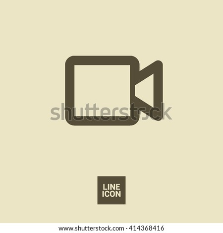 Camera isolated minimal single flat icon. Video line vector icon for websites and mobile minimalistic flat design. - stock vector