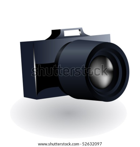 Camera isolated on white background - stock vector
