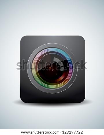 Camera lens - stock vector