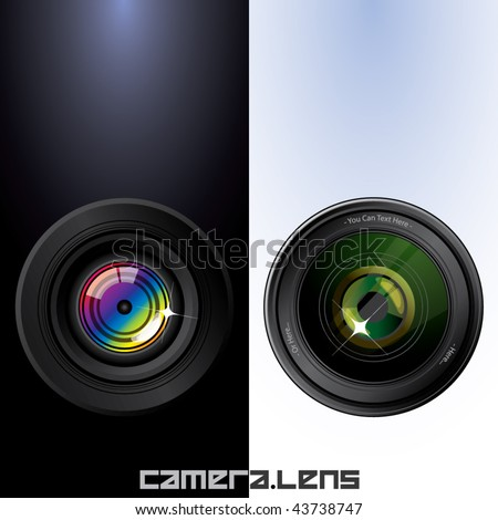 camera lens clean design. - stock vector