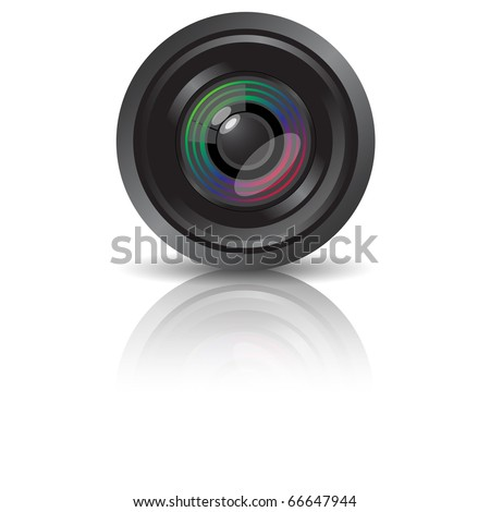 Camera Lens (eps10 vector) - stock vector