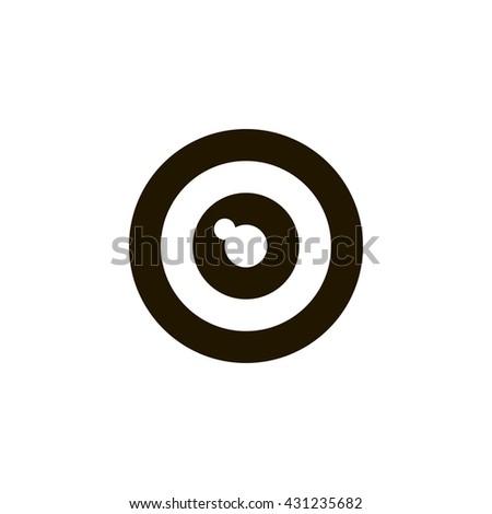 camera lens icon. camera lens sign - stock vector