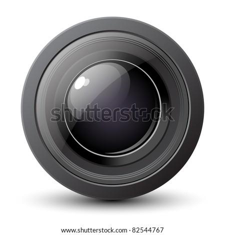 Camera Lens Icon. Vector illustration - stock vector