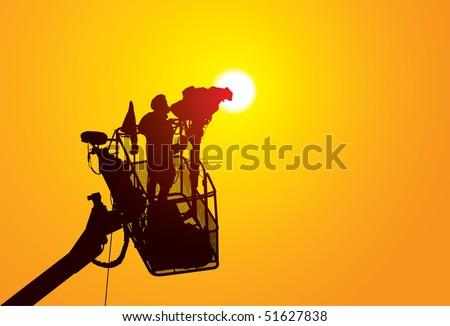 camera man - stock vector