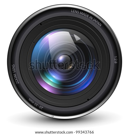 Camera photo lens, vector illustration. - stock vector