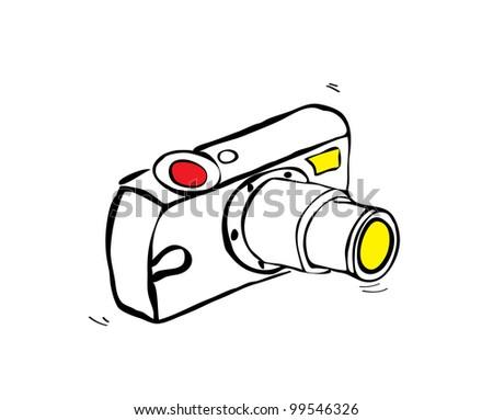 camera pocket - stock vector