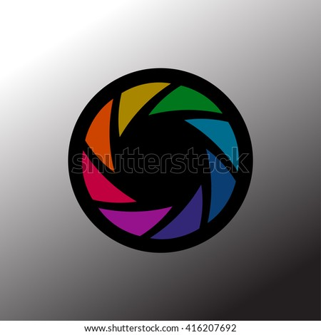 Camera shutter icon. Aperture and photography, focus photo, vector illustration. - stock vector
