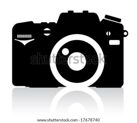 Camera Simple Icon - stock vector