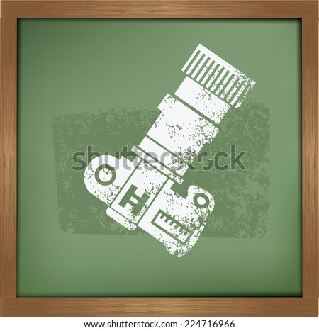 Camera symbol on background background, vector - stock vector