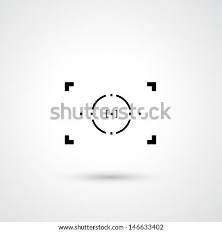 Camera symbol vector  - stock vector