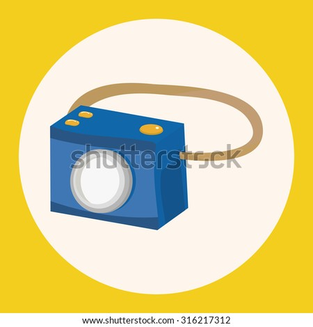 camera theme elements vector,eps