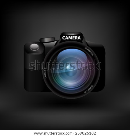 Camera. Vector - stock vector