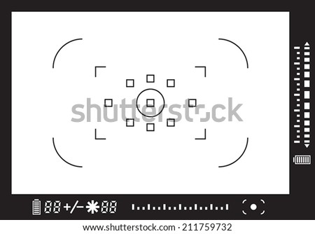Camera viewfinder - stock vector