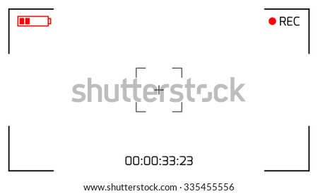 Camera Viewfinder Rec Background. Screen Video on a White Background. Vector illustration. - stock vector