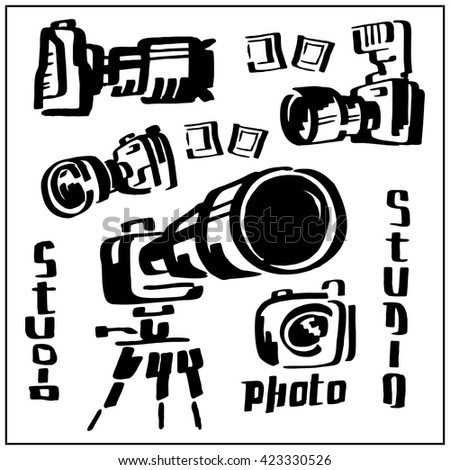 Cameras - stock vector
