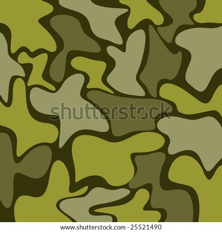 Camouflage military pattern - stock vector