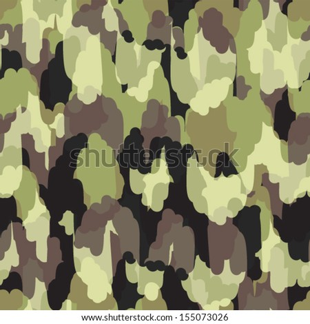 Camouflage modern stylish seamless pattern - stock vector