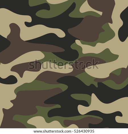 Camouflage Pattern Background Classic Clothing Style Stock ...