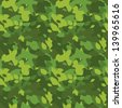 Camouflage seamless background - stock vector