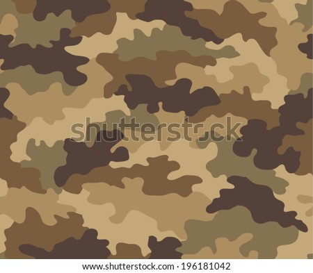 Camouflage seamless pattern - stock vector