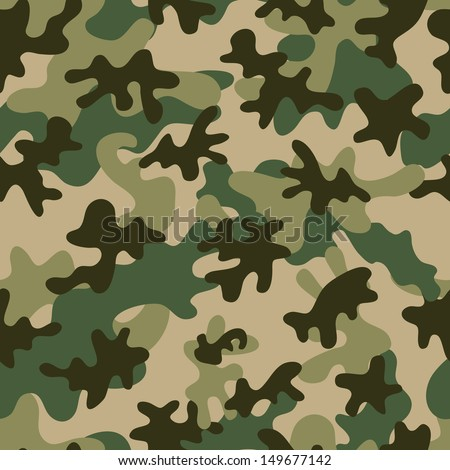 Camouflage Seamless Pattern. Can be used for wallpaper, pattern fills, web page background, surface textures.