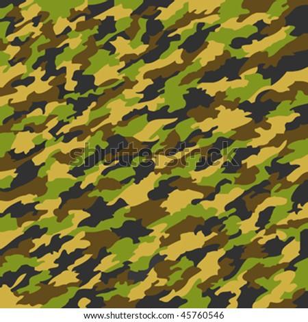 camouflage texture, abstract art illustration - stock vector